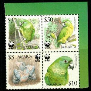 JAMAICA SG1121/4 2007 WWF BIRDS BLOCK OF 4 MNH
