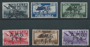 Italy - Trieste A, 1947, Scott #C1-C6, Used, V.F., Complete Set