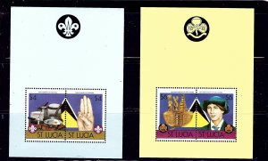 St Lucia 823-24 MNH 1986 Scouting    (ap1301)