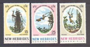 Vanuatu New Hebrides Scott 135/137 - SG138/140, 1969 Land Divers Set MNH**
