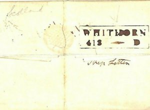 GB Scotland IRISH SEA MAIL *Whithorn* Dumfries Cover Abbeylands 1822 MS2950
