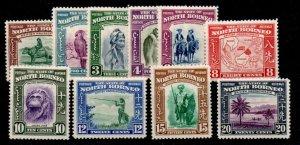 NORTH BORNEO SG303/12 1939 SET TO 20c MTD MINT