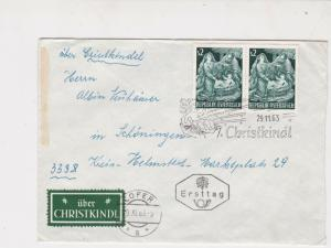 Austria 1963 Christkindl Slogan Lofer Cancel FDC Christmas Stamps Cover Ref27507