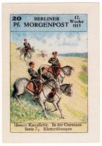 (I.B-CK) Germany (Great War) Cinderella : Berliner Morgenpost 20pf (Our Cavalry)