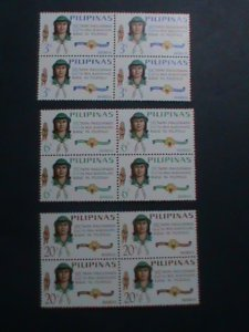 PHILIPPINES-1966-SC#947-9 25TH ANNIVERSARY OF WORLD GIRL SCOUTS DAY-MNH BLOCK