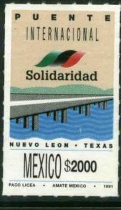 MEXICO 1701 New International Bridge Nuevo Leon - Texas MNH