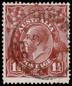 Australia Scott 24, Chocolate, Perf. 14 (1918) Used F-VF M