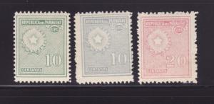 Paraguay 273, 275, 279 MNH National Emblem (B)