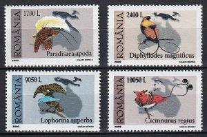 2000 Romania 5467-5470 Bird of paradise 6,00 €