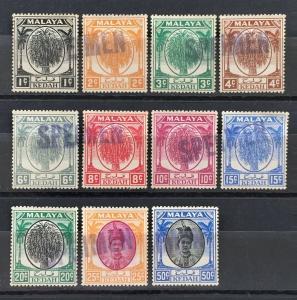 Malaya 1950-55 Kedah Definitives SPECIMEN SG#76-85&87 M2000