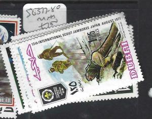 DUBAI   (P1404B)   SCOUT  SG 377-380   MNH