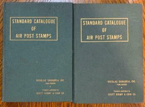 Sanabria Catalog of Air Post Stamps 1936 Vol 1 & 2 - Stamp Philately Book