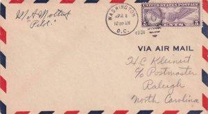 1931, Washington, DC to Raleigh, NC, See Remark (41315)