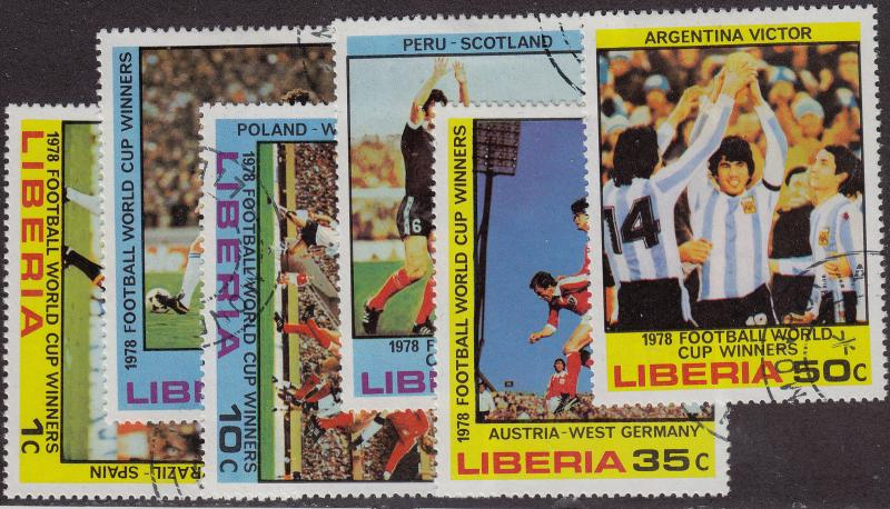 LIBERIA CTO Scott # 820-825 World Cup (6 Stamps) -a