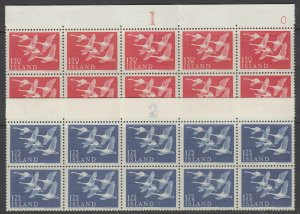 Iceland, Scott 298-299, MNH block of ten