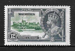 Mauritius 205: 12 George V, Windsor Castle, MH, VF