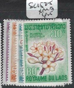 LAOS (PP3006B)     FLOWERS   SC 152-5      MNH
