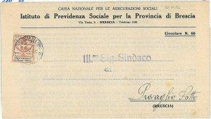 ITALIA REGNO - ENTI PARASTATALI: Cassa Nazionale Assicurazioni Sociali su BUSTA!