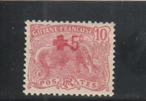 French Guiana  B2  MH  (1915 Surcharged)