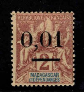 Madagascar Scott 58 MH* surcharged stamp