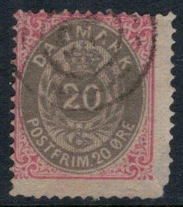 Denmark #31  CV $32.50  rounded corner