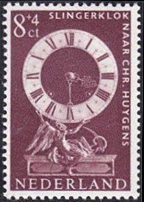 Netherlands # B365 mnh ~ 8¢ + 4¢ Pendulum Clock