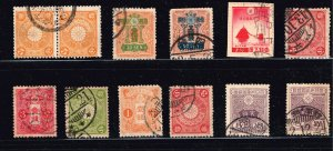 JAPAN STAMP OLD USED STAMPS COLLECTION LOT  #M1
