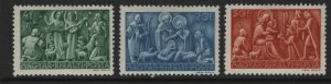 HUNGARY 617-619 MINT HINGED MESSAGE TO THE SHEPHERDS