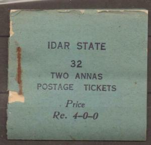 INDIA-IDAR SG5 1944 4r BOOKLET 8 PANES OF 4 OF 2a BLUE MNH