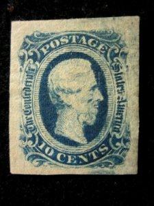 US/CONFEDERATE STATES - SCOTT# 12 - MNG - CAT VAL $22.00 (1)