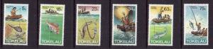 Tokelau-Sc#85-90-Unused NH set-Fishing Methods-1982-