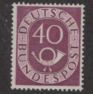 GERMANY 680 MINT HINGED POST HORNS ISSUE 1951