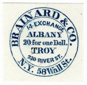 (I.B) US Local Post : Brainard & Co 5c