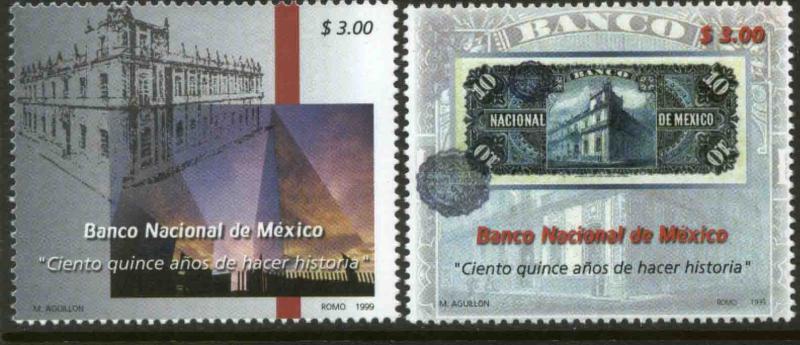 MEXICO 2147-2148, Banamex, 175th Anniversary. MINT, NH. VF. (69)