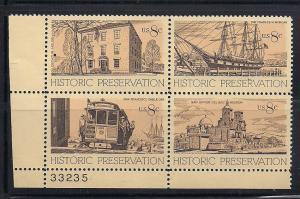 Plt Blk Sc# 1440 43 Historic Preservation MNH #33235 LL