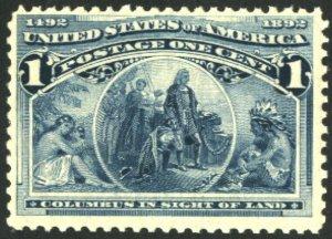 US 230 1c Columbian F OG NH SCV $35