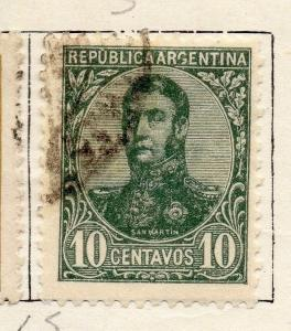 Argentine Republic 1908-10 Early Issue Fine Used 10c. 087375