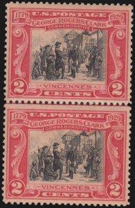 1928 2¢ George Rogers Clark