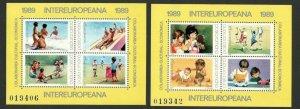 ROMANIA - MNH - BLOCK - CHILDREN'S - INTEREUROPEANA -1989.