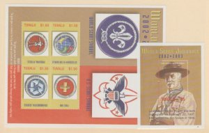 Tuvalu Scott #894-895 Stamps - Mint NH Souvenir Sheet Set
