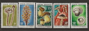 Central African Rep. 81-85 Set. MH (Mushrooms)