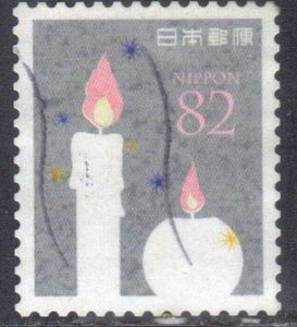 JAPAN SCOTT# 3968A **USED** 82y 2015 CANDLES SEE SCAN