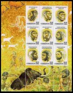 2002 Uzbekistan 442-50KL Prehistoric Monkey People