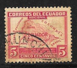 Ecuador RA41: 5c Map of Ecuador, used, VF