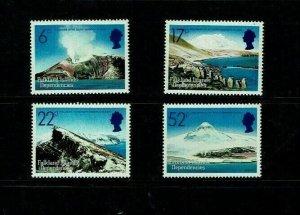 South Georgia:1984, Volcanoes on Sandwich Island, MNH set
