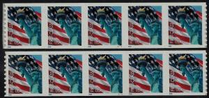 3968- 39c Color Shift Error / EFO PNC5 F RST Statue of Liberty Mint NH