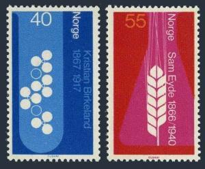 Norway 498-499,MNH.Michel 549-550. Kristian Birkeland,1966.Sam Eyde.