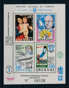 [44498] Uruguay 1977 Sports World Cup Football Zeppelin Nobel price MNH Sheet