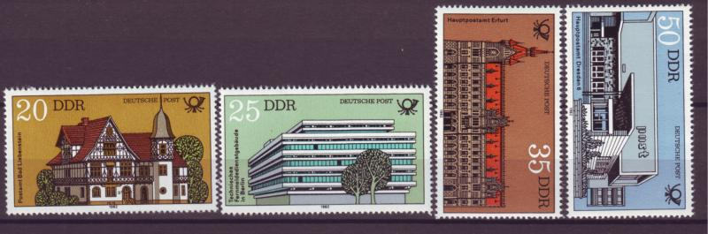J20580 Jlstamps 1982 germany ddr set mnh #2237-40 buildings
