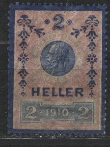 Austria - 2 Heller Revenue MH G/VG